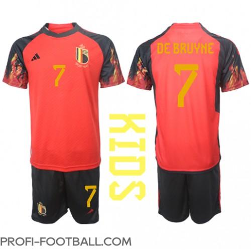 Belgia Kevin De Bruyne #7 Koti Pelipaita Lasten EM-Kisat 2020 Lyhyet Hihat (+ Lyhyet housut)