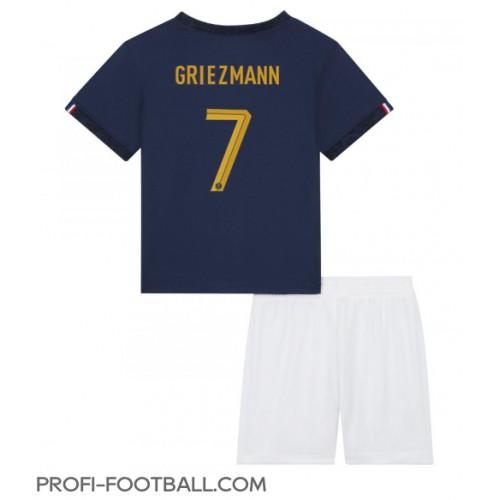 Ranska Antoine Griezmann #7 Koti Pelipaita Lasten EM-Kisat 2020 Lyhyet Hihat (+ Lyhyet housut)